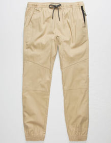 BROOKLYN CLOTH Twill Zip Side Pockets Khaki Mens J