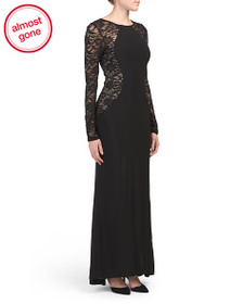 MARINA Made In Usa Lace Illusion Gown
