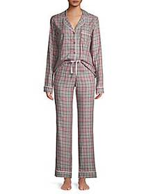 Ugg Raven Flannel 2-Piece Pajama Set PORT PLAID