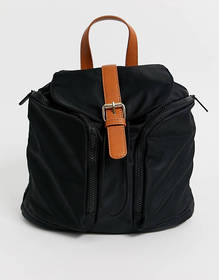 ASOS DESIGN slouchy backpack with tab detail