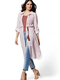 Striped Duster Shirt - New York & Company