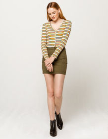 SKY AND SPARROW Utility Twill Mini Skirt_