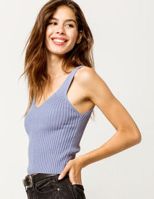 FULL TILT Essentials Blue Womens Sweater Tank_