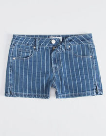 RSQ Malibu Stripe Girls Denim Shorts_