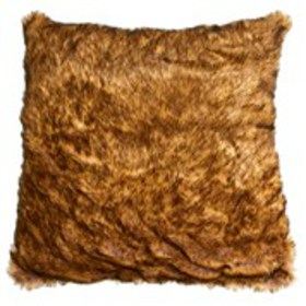 "CATHERINE MALANDRINO Faux Fur Throw Pillow 22"" x 2"