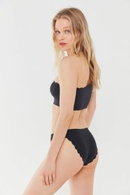 Out From Under Laser-Cut Scallop High-Waisted Biki