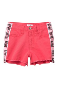 bebe Color Twill Shorts with Taping (Big Girls)
