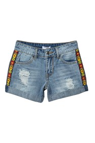 bebe Denim Cuff Shorts (Big Girls)