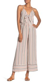 Papillon Bow Front Striped Jumpsuit