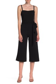 bebe Solid Cropped Jumpsuit