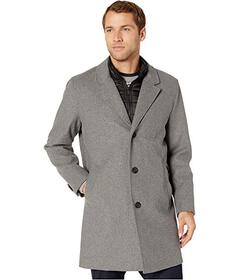 Cole Haan Laminated Wool Buttoned Coat w\u002F Lap