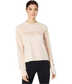 Bebe Sport Sueded Scuba Pullover