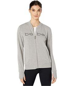 Bebe Sport Zip Bomber with Grommet