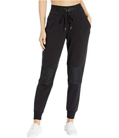 Bebe Sport Fleece Joggers with Lurex Mesh Knee
