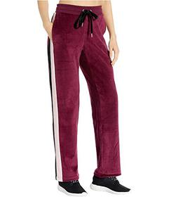 Bebe Sport Velour Color-Block Track Pants