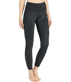 Bebe Sport Cage Leg Embossed Leggings