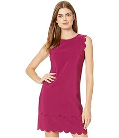 Betsey Johnson Scalloped Scuba Crepe Dress