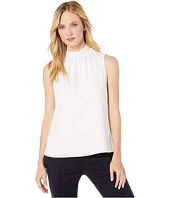 Tommy Hilfiger Mock Neck Sleeveless Woven Top