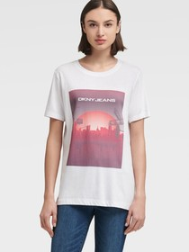 Donna Karan CITY SUNSET LOGO TEE