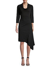 Donna Karan Asymmetric Sheath Dress BLACK