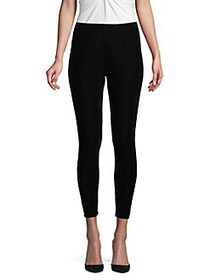 Donna Karan Skinny Velvet Leggings BLACK