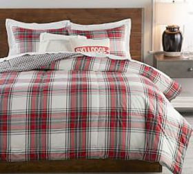 Pottery Barn Hamilton Plaid Reversible Cotton Comf