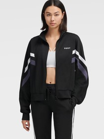 Donna Karan COLOR BLOCK TRACK JACKET