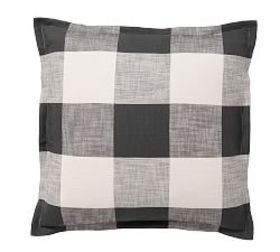 Pottery Barn Bryce Buffalo Check Sham - Charcoal
