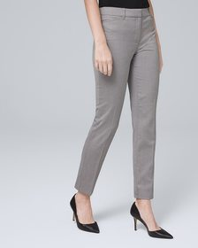 Comfort Stretch Patterned Slim Ankle Pants