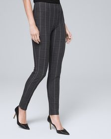 Comfort Stretch Plaid Skinny Ankle Pants