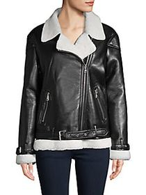 VIGOSS Faux Fur-Lined Jacket BLACK