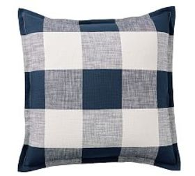 Pottery Barn Bryce Buffalo Check Sham - Navy