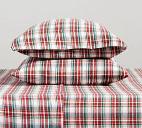 Pottery Barn Phoenix Plaid Organic Cotton Flannel