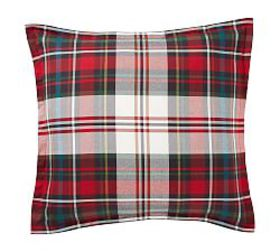 Pottery Barn Declan Plaid Organic Percale Shams