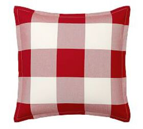 Pottery Barn Buffalo Check Cotton Shams - Cherry/I