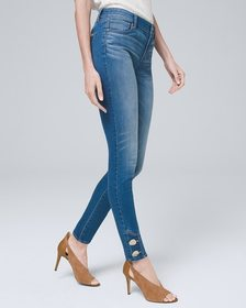 Mid-Rise Button-Detail Skinny Ankle Jeans