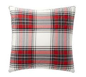 Pottery Barn Hamilton Plaid Reversible Cotton Sham