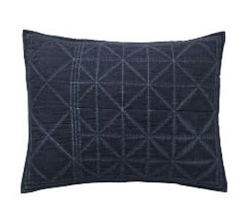 Pottery Barn The Emily & Meritt Indigo Stitch Cott