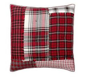 Pottery Barn Easton Plaid Patchwork Cotton Sham
