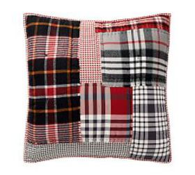Pottery Barn Pearson Plaid Patchwork Cotton Quilte