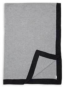 Black Brown 1826 Wool & Cashmere-Blend Throw GREY