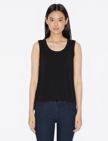Armani JERSEY TOP WITH LACE INSERT