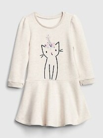 Toddler Graphic Fit and Flare Dress