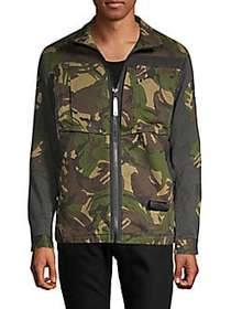 G-Star RAW Camouflage Zip-Front Jacket FALL GREEN