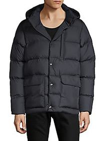 Moncler Hooded Down-Filled Jacket NAVY