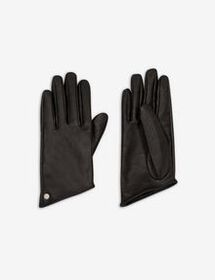 Armani METALLIC, FAUX LEATHER GLOVES