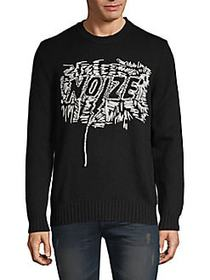 Diesel Embroidered Pullover Wool-Blend Sweater BLA