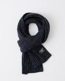 Ribbed Scarf, NAVY BLUE