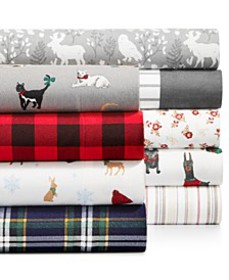 Printed Cotton Flannel Sheet Sets, Created for Mac
