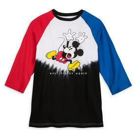 Disney Mickey Mouse Color Block Tie-Dye T-Shirt fo